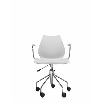 Maui Armchair On Castors Pale Grey Style Height Adjustable Swivel Base Arms picture