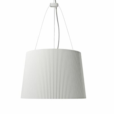 G� 1-Light Pendant Color: White Exterior / Gold Interior