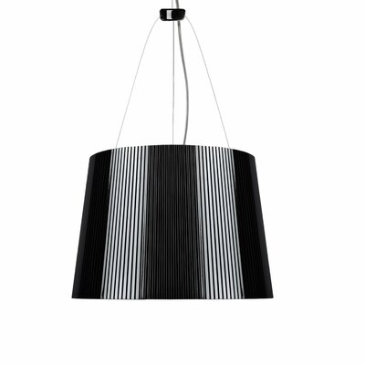 G� 1-Light Pendant Color: Black Exterior / Gold Interior