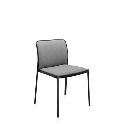 Audrey Soft Side Chair (Set of 2) Color: Painted Black, Color: Beige Lycra