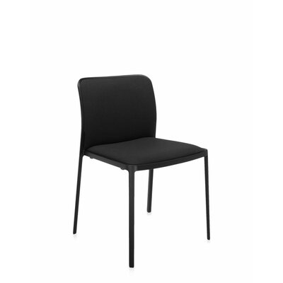 Audrey Soft Side Chair (Set of 2) Color: Painted Black, Color: Black Trevira