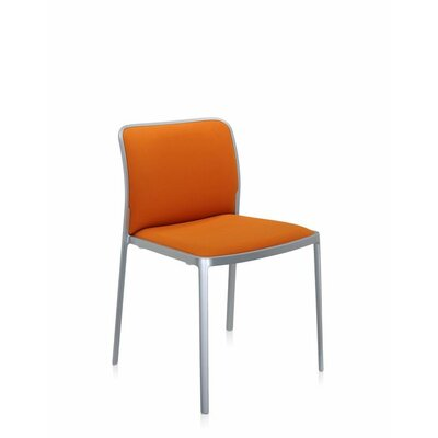 Audrey Soft Side Chair (Set of 2) Color: Painted Aluminum, Color: Orange Kvadrat