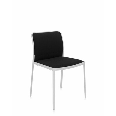 Audrey Soft Side Chair (Set of 2) Color: Painted White, Color: Black Lycra