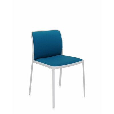 Audrey Soft Side Chair (Set of 2) Color: Painted White, Color: Ultramarine Green Trevira