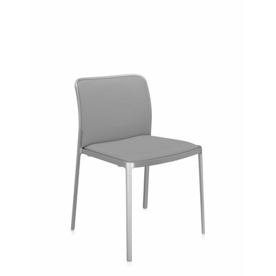 Audrey Soft Side Chair (Set of 2) Color: Painted Aluminum, Color: Beige Lycra