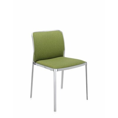 Audrey Soft Side Chair (Set of 2) Color: Polished Aluminum, Color: Acid Green Kvadrat