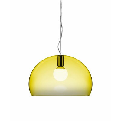 FL/Y 1-Light Suspension Bowl Pendant Color: Yellow