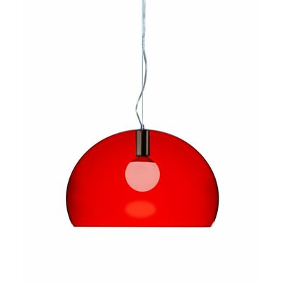 FL/Y 1-Light Suspension Bowl Pendant Color: Red