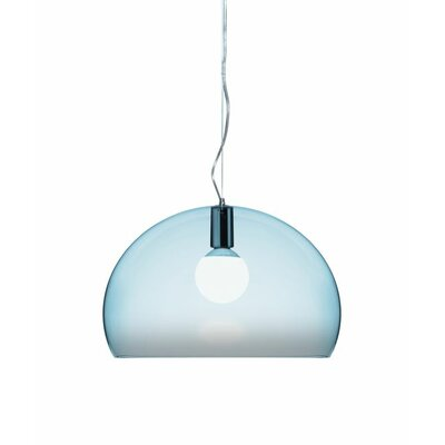 FL/Y 1-Light Suspension Bowl Pendant Color: Light Blue