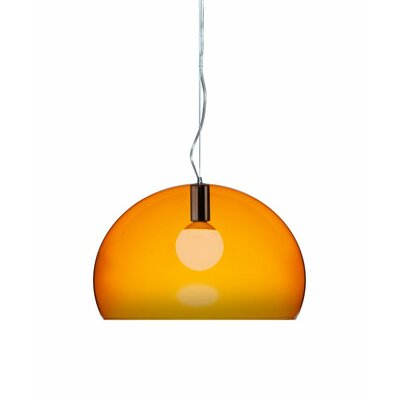 FL/Y 1-Light Suspension Bowl Pendant Color: Orange