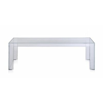Invisible Coffee Table Table Size: 28.3 H, Color: White Matte