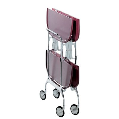 Gastone Kitchen Cart Color: Plum