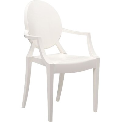 Louis Ghost Armchair (Set of 2) Upholstery: Opaque Glossy White