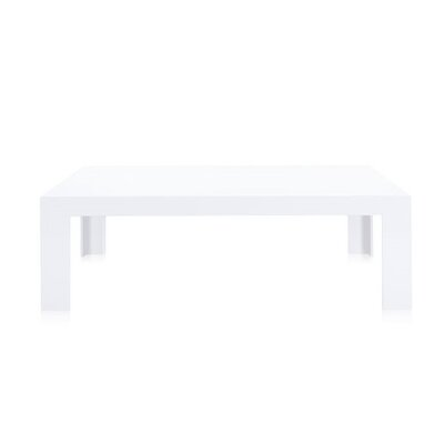 Invisible Side Table Table Size: 15.7 Height, Color: Opaque Glossy White
