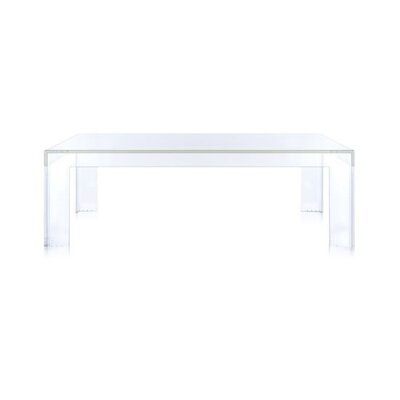 Invisible Side Table Table Size: 15.7 Height, Color: Transparent Crystal