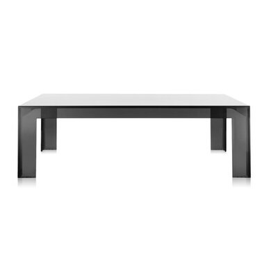 Invisible Side Table Table Size: 15.7 Height, Color: Transparent Light Smoke