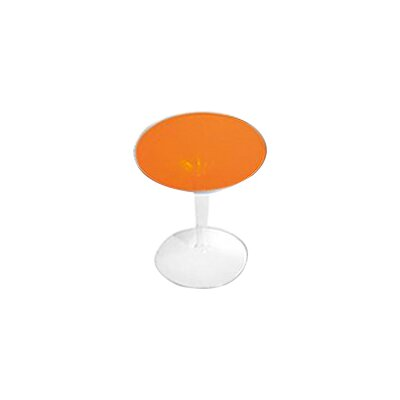 TipTop Side Table Color: Transparent Orange