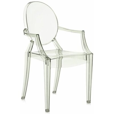 Louis Ghost Armchair (Set of 2) Upholstery: Transparent Crystal Green