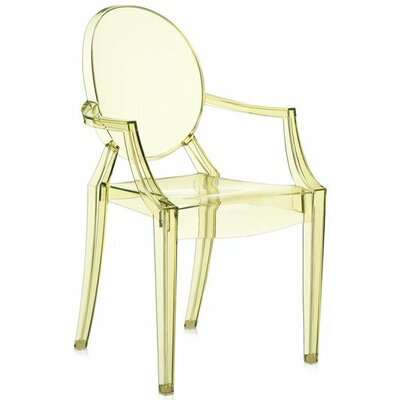 Louis Ghost Arm Chair (Set of 2) Upholstery: Transparent Straw Yellow