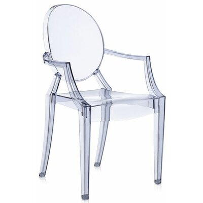 Louis Ghost Armchair (Set of 2) Upholstery: Transparent Ice Blue