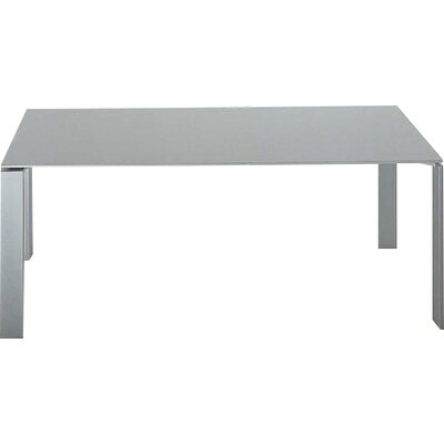 FOUR Table Size: Large Rectangular, Finish: White Top/White Body
