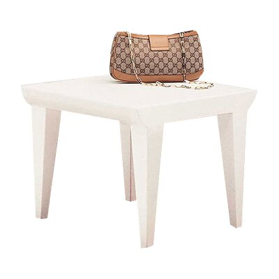 Bubble Club End Table Finish: Zinc White