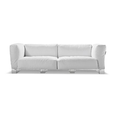 Pop Sofa Frame Finish: Transparent, Upholstery: White