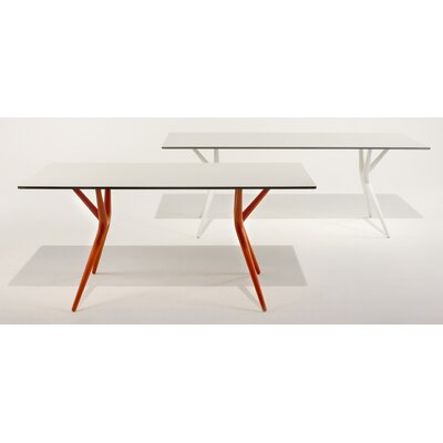 Spoon Table Size: 28.35 H x 62.99 W x 31.5 D, Color: White