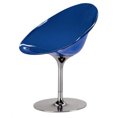 Eros Papasan Chair Finish: Transparent Cobalt, Base: Swivel