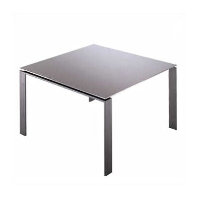 Four Deluxe Dining Table Size: Medium Rectangular, Finish: White Top/Aluminum Body