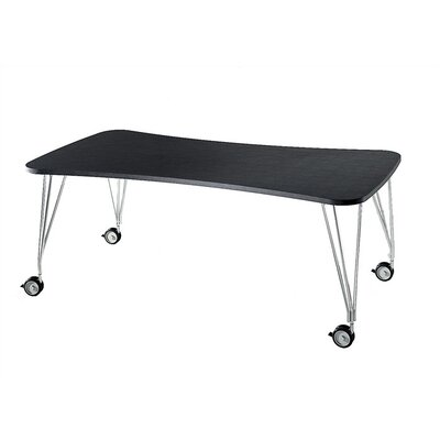 Max Training Table with Wheels Size: Large with Feet, Tabletop Finish: Slate
