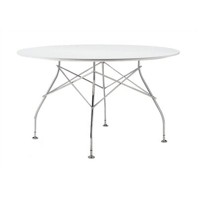 Glossy Table Tabletop Finish: White Polyester
