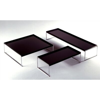 Trays Coffee Table Size: Large Rectangular, Color: Black