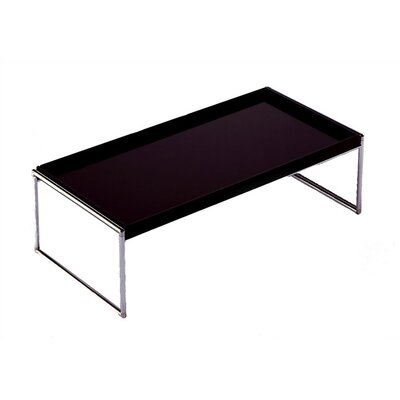 Trays Coffee Table Size: Square, Color: White