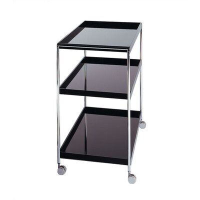 Kitchen Cart Color: Black