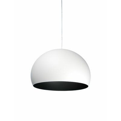 FL/Y M Hanging Lamp Shade Color: White, Size: 21.67 H x 32.67 W x 32.67 D