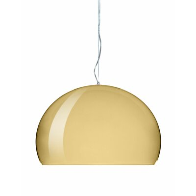 FL/Y M Hanging Lamp Shade Color: Gold, Size: 21.67 H x 32.67 W x 32.67 D