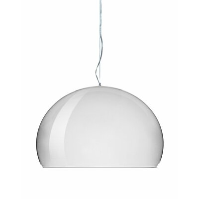 FL/Y M Hanging Lamp Shade Color: Chrome, Size: 21.67 H x 32.67 W x 32.67 D