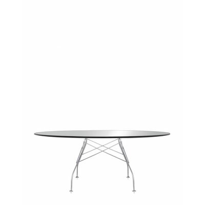 Glossy Oval Table Color: Black