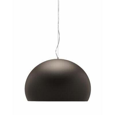 FL/Y M Hanging Lamp Shade Color: Brown, Size: 21.67 H x 32.67 W x 32.67 D