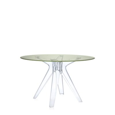 Sir Gio Table Base Color: Transparent, Base Color: Fum�