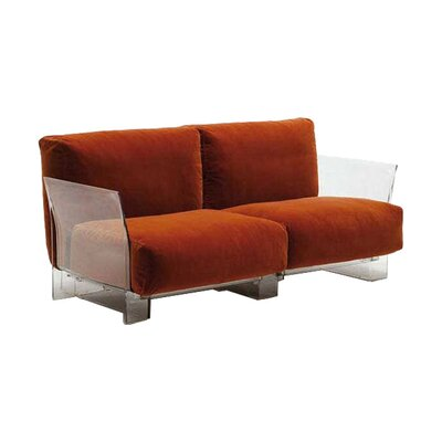 Pop Loveseat Upholstery: Red
