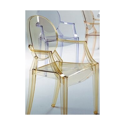 Low Price Kartell Louis Ghost Chair Finish: Transparent Sunset Orange