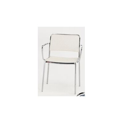Audrey Armchair (Set of 2) Finish: Aluminum/White