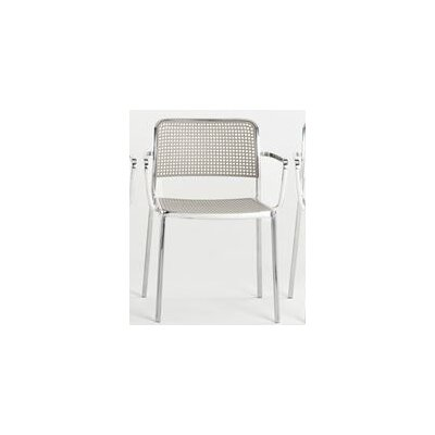 Audrey Armchair (Set of 2) Finish: Aluminum/Light Grey