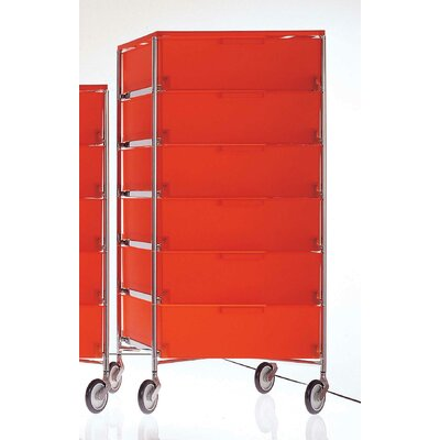 Mobil Storage Cabinet Color: Translucent Orange Product Picture 1384