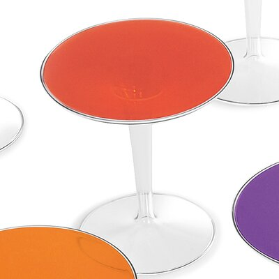 TipTop Side Table Color: Transparent Red