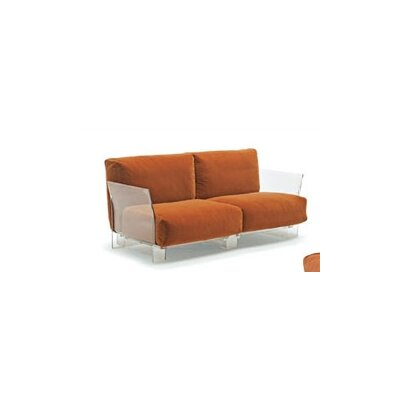 Pop Loveseat Upholstery: Orange