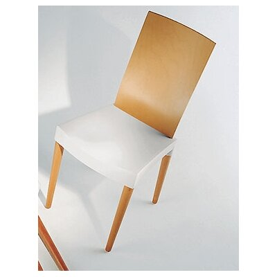 Low Price Kartell Miss Trip Chair Seat Finish: Ivory, Frame Finish: Cherry-Stained