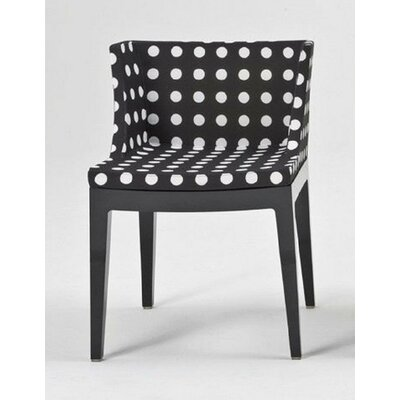 Mademoiselle Armchair Finish: Black, Upholstery: Black Pattern